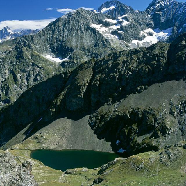 Le lac de Plan Vianney © Jean-Pierre Nicollet - Parc national des Ecrins
