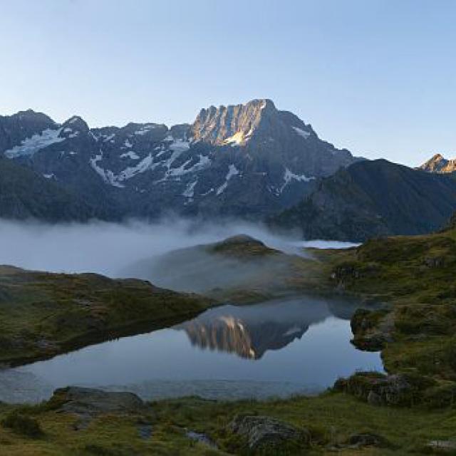 Le lac du Lauzon -  le Sirac © Pascal Saulay - Parc national des Ecrins
