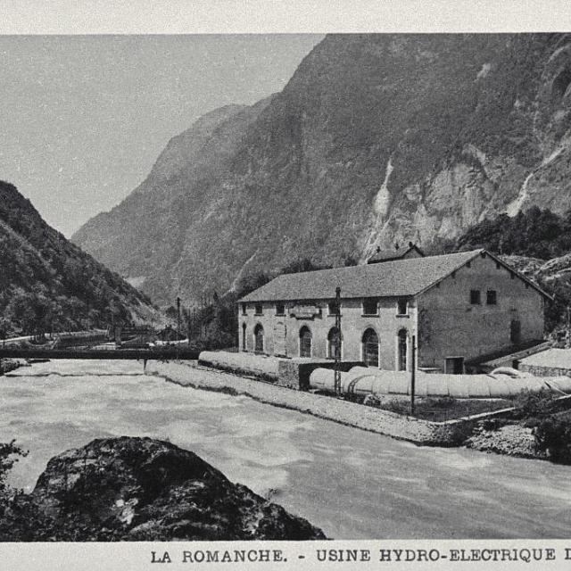 La Romanche - Usine hydro-éléctrique des Roberts - Lucien Tron (collection) - Parc national des Ecrins