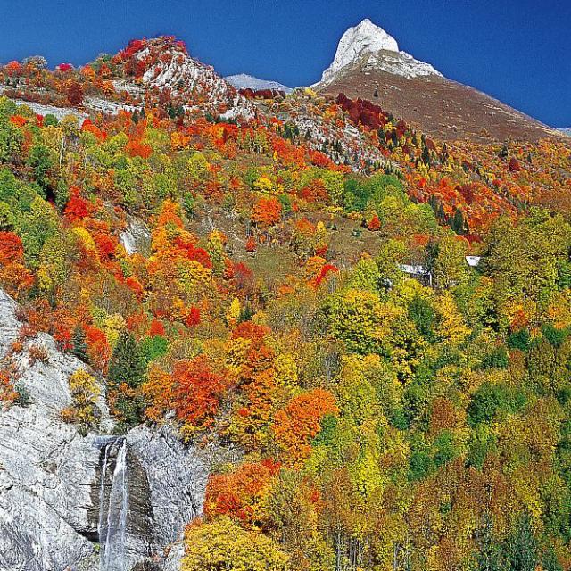 Cascade de Confolens et le Paletas © Jean-Pierre Nicollet - Parc national des Ecrins