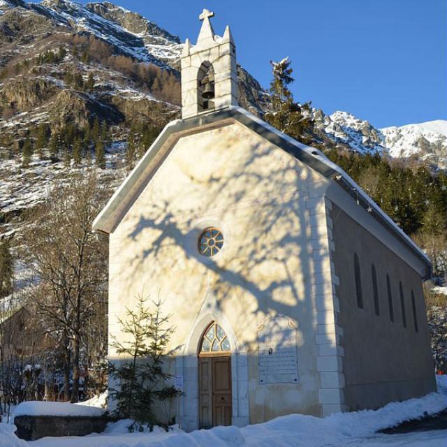 Chapelle de Molines en Champsaur restaurée © D. Vincent - Parc national des Écrins