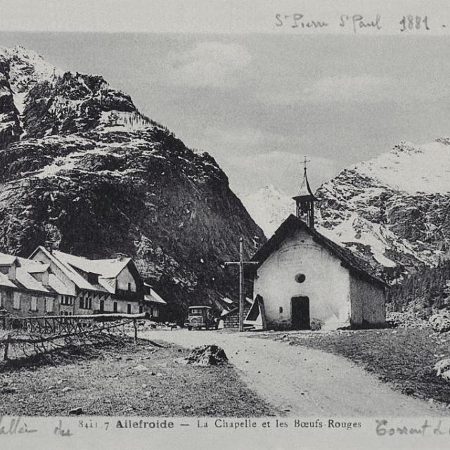 Chapelle ailefroide - Pelvoux -carte postale ancienne - vers 1881