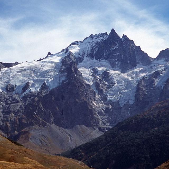 La Meije face Nord - le glacier du Tabuchet et le glacier de la Meije © Bernard Nicollet - Parc national des Ecrins