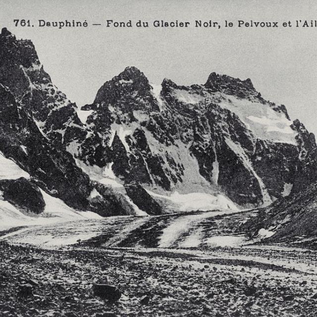 Le fond du glacier Noir, le Pelvoux et l'Ailefroide - Tron Lucien (collection)