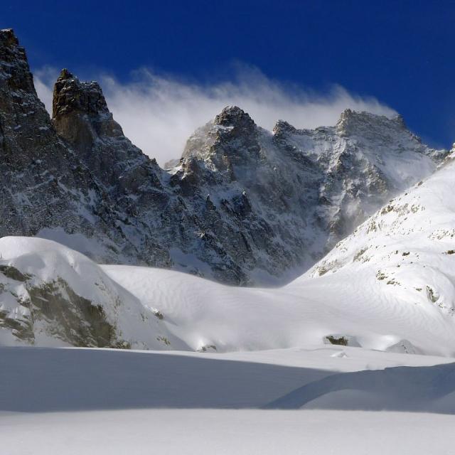 Glacier Noir - crevasses du front du glacier © Thierry Maillet - Parc national des Ecrins