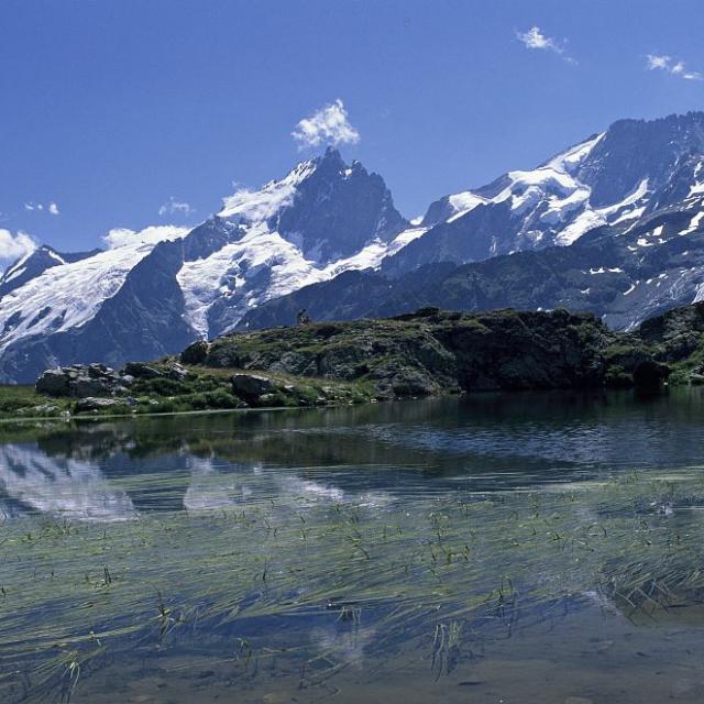 Lac Lérié et la Meije © Bernard Nicollet - Parc national des Ecrins