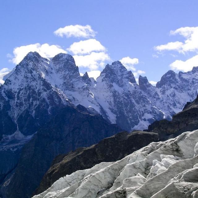 Glacier blanc et Pelvoux © Robert Chevalier, Parc national des Ecrins