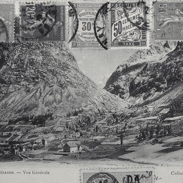 La Bérarde, carte postale ancienne © Parc national des Ecrins.