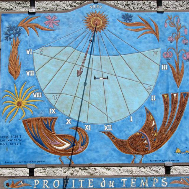 Un cadran solaire typique des Ecrins