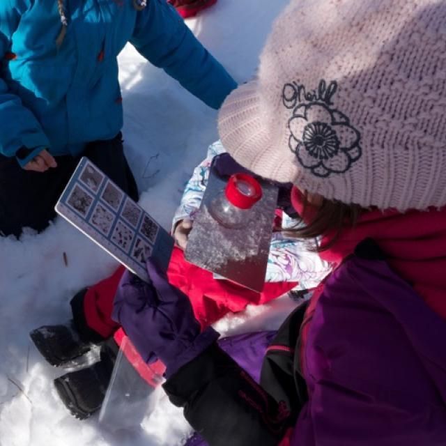 école de Freissinières - janvier 2016 - projet avec le Parc national des Écrins