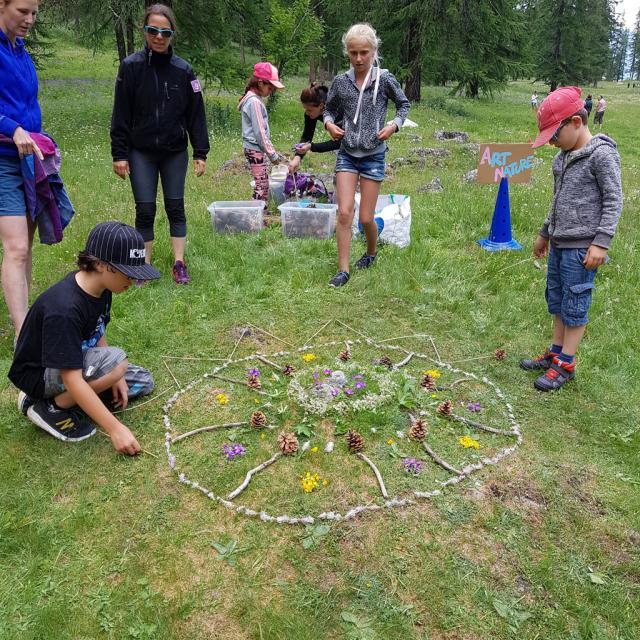 art et nature -Planète land art  ecole PSV maternelles - 2017/2018 - Parc national des Écrins