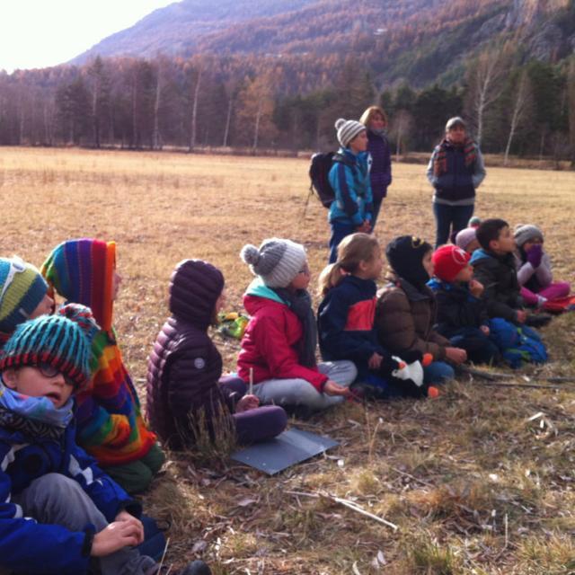 séance d'automne 2017 avec le Parc national des Ecrins - ecole Freissinières