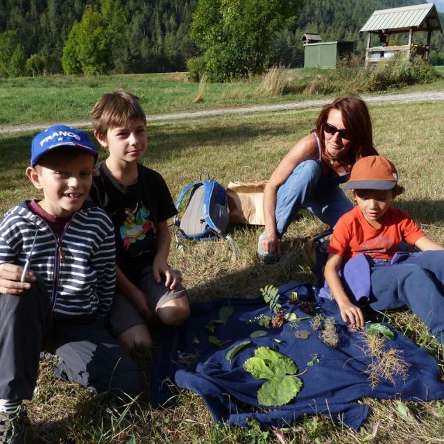 Projet flore - école de Freissinières - avec le Parc national des Écrins